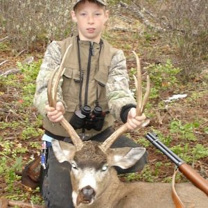 "Grandsons first buck! Blacktail 21"" trall"