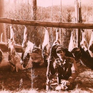 One of my Dad's many Idaho Elk trips in the 1940's. Camped at Kelly cr.
