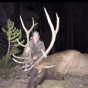 Oldest Son's First Bull elk - Archery (Wyoming 2015)